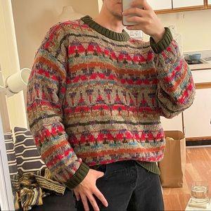 Timberland vintage grandpa ugly wool sweater large